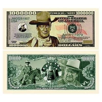(10) John Wayne Million Dollar Bill: Toys & Games