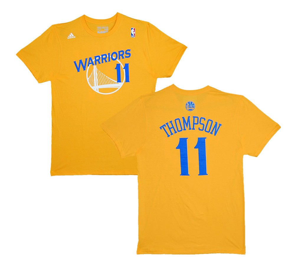 new concept 47a66 aad94 Amazon.com: Golden State Warriors Klay Thompson Yellow Gold ...