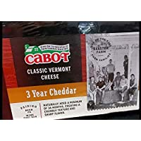 Cabot Classic Vermont 3 year Cheddar Cheese ~1.75 lb
