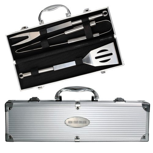 Rose State Grill Master 3pc BBQ Set 'Rose State College Flat Engraved' by CollegeFanGear (Image #1)
