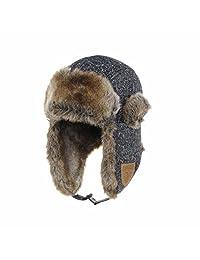 WITHMOONS Herringbone Pattern Ear Flap Cap Trapper Hat Trooper CR7153