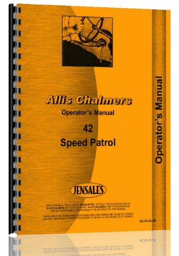 Allis Chalmers 42 Motor Grader Operators Manual