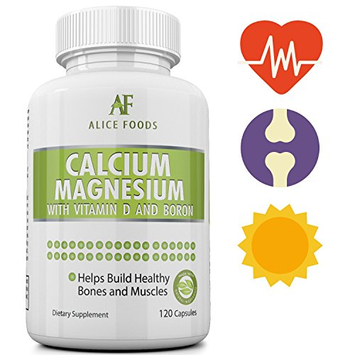 Calcium Magnesium Vitamin D Boron Complex - Effective Calcium Absorption and Retention - Best Value for Money - 120 Capsules in the Package - Better than Tablets, Pills and Powder (Bottle Of Pills Costume)