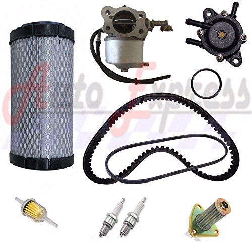 (Gas Golf Cart Tune Up Kit 96+ EZGO TXT ST350 Carburetor Fuel Pump Drive Starter)