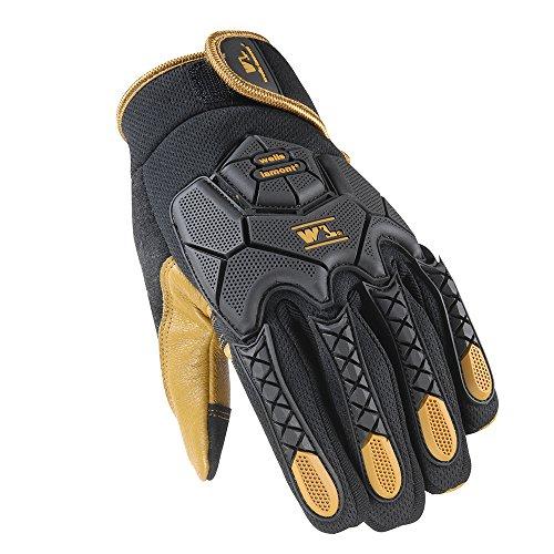 Wells Lamont Hi-Dexterity Mechanic Gloves, Heavy Duty Impact Protection, Reinforced Leather Palm, Large (Leather Palm Mechanics Glove)