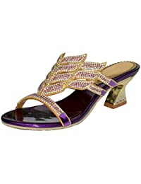 YooPrettyz High Quality Sandal Low Chunky Heel Comfort Wedding Prom Party Sandal Heels