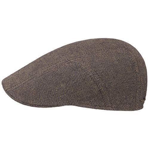 Stetson Linen-Cotton Ivy Flat Cap Men Brown 7 ()