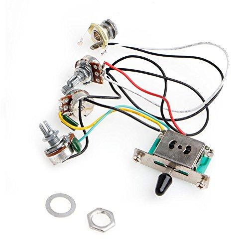 Interruptor de 5 v/ías colector de arn/és de cableado para Guitarra Strat Stratocaster SimpleLife potes de cachimba 250 k