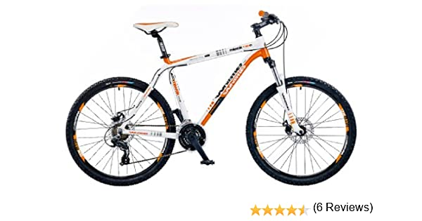 Whistle Miwok 1484d – Bicicleta para mujer para bicicleta de montaña, color naranja y blanco, tamaño 20