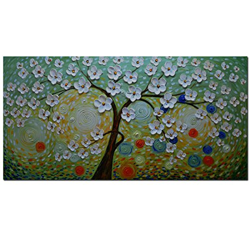 Asdam Art- 100% Hand Painted 3D Paintings Green Abstract Art