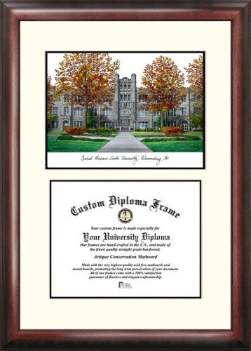 (Central Missouri State University Scholar Framed Lithograph with Diploma)