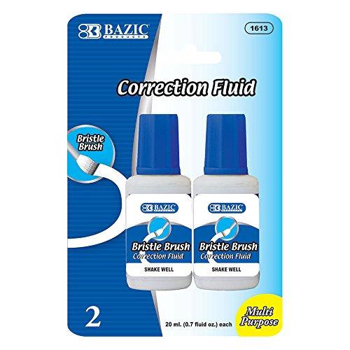 BAZIC 20ml / 0.7 fl. oz. Correction Fluid (2/Pack) (Case of 144) by Bazic