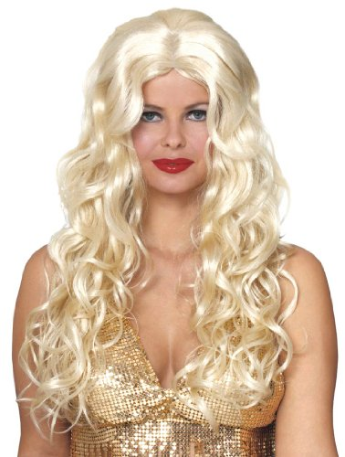 Renaissance Goddess Adult Size Costumes (Deluxe Blonde Sultry Wig Adult)