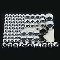 81PCS Chrome Bolt Toppers Cover Kit For 2007-2013 Harley Softail Twin Cam Models