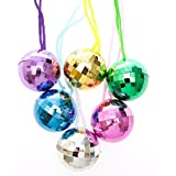 Fun Express Assorted Color Disco Ball Necklaces (1 Dozen)