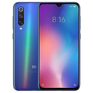"Xiaomi Mi 9 (128GB, 6GB RAM) 6.39"" OLED Display, 48MP Camera, Snapdragon 855, Factory Unlocked GSM Smartphone (Global 4G LTE Version) (Ocean Blue)"