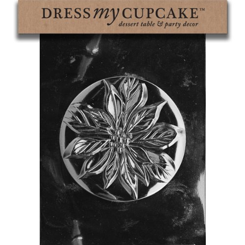 - Dress My Cupcake DMCC400A Chocolate Candy Mold, Poinsettia Pour Box-Top, Christmas