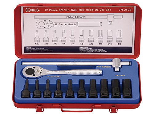 Genius Tools 12 Piece 3/8