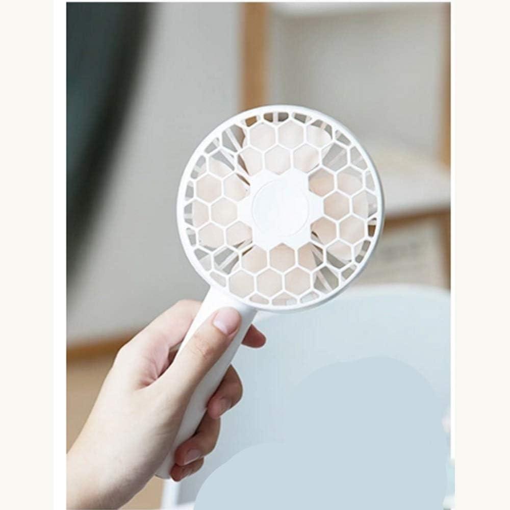 Color : Yellow Air Cooler Cute Honeycomb Fan Handheld Small Electric Fan Mini Portable USB Silent 3 Gear Fan