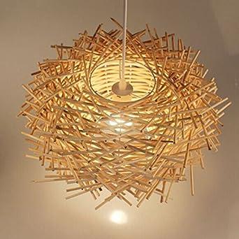 FUMIMID Bambus Lampe Kronleuchter Wohnzimmer Vogel Nest Restaurant Garten Hof In Sdost