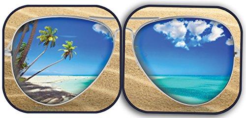 Spring Shade (Custom Accessories 17258 Solar Shield Beach Bum Spring Sunshade, 28.5 x 31.5-Inch)