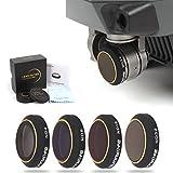 Drone Fans Camera Lens Filter ND4 ND8 ND16 ND32 for DJI MAVIC PRO Won't Affect Gimbal Calibration 4 Pack