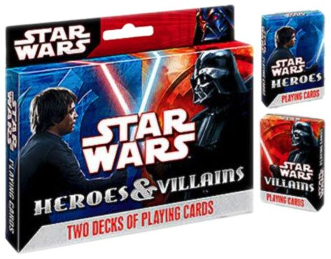 Star Wars Heroes and Villians Poker Size Playing Cards, (Hero Poker)