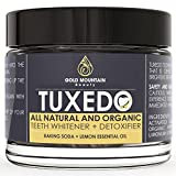 baking soda teeth whitener - Tuxedo Teeth Whitening Activated Charcoal Powder, All Natural Tooth Whitener with Coconut Charcoal, and Bentonite Clay, Highest Quality Non Abrasive Safe on Enamel (Yellow)