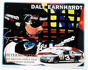 Signed Dale Earnhardt Sr. Picture - 8x10 Racing Determination #3 - Autographed Photos