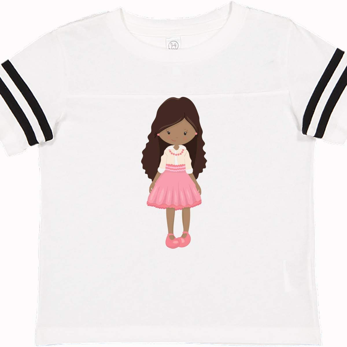Fashion Girl inktastic African American Girl Pink Pearls Toddler T-Shirt