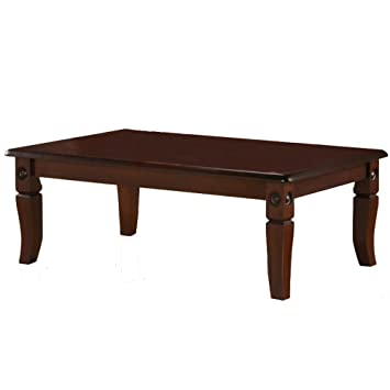 Homestyle4u Design Couchtisch Wohnzimmertisch TV Tisch Beistelltisch Japanisch Dunkelbraun