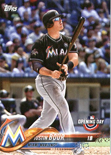 2018 Topps Opening Day #171 Justin Bour Miami Marlins Baseball Card