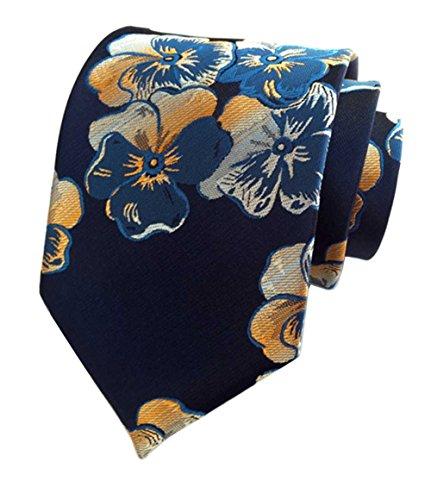 Flowers New Necktie - L04BABY New Men's Classic Dark Floral Flower Jacquard Woven Silk Ties Necktie
