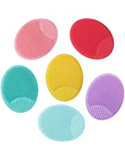 Honorall 4PCS Facial Brush Silicone Cleansing Pad Pore Cleansing Pad Acne Removal Facial Brush Baby Shower Tool Brush Random Colors