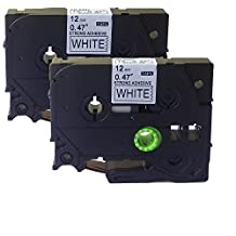 NEOUZA 2PK Compatible For Brother P-Touch Laminated TZe TZ Label Tape Cartridge 12mm x 8m (TZ-S231 TZe-S231 Extra Strength Black on White)
