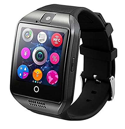 Amazon.com: MLIUS Q18 Smart Watch 1.54 Inch Touch Screen Camera TF Card Anti-lost Bluetooth Smartwatch for Android IOS Phone (Black): Cell Phones & ...