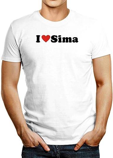 Idakoos I Love Sima Small Heart Camiseta: Amazon.es: Ropa y ...