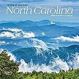 North Carolina Wild & Scenic 2020 7 x 7 Inch Monthly Mini Wall Calendar, USA United States of America Southeast State Nature
