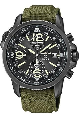 Seiko SSC295P1 Prospex Men's Solar Military Alarm Chronograph 100m Water Resistant,SSC295 (Chronograph Seiko)