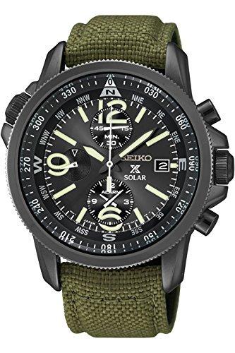 Seiko SSC295P1 Prospex Men's Solar Military Alarm Chronograph 100m Water Resistant,SSC295 by Seiko