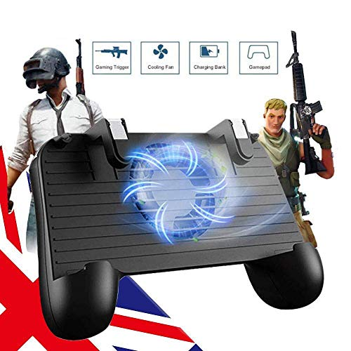 gdfh Mobile Game Controller for PUBG Mobile Controller Mobile Game Trigger Joystick Gamepad for 4-6.5 iOS & Android Phone