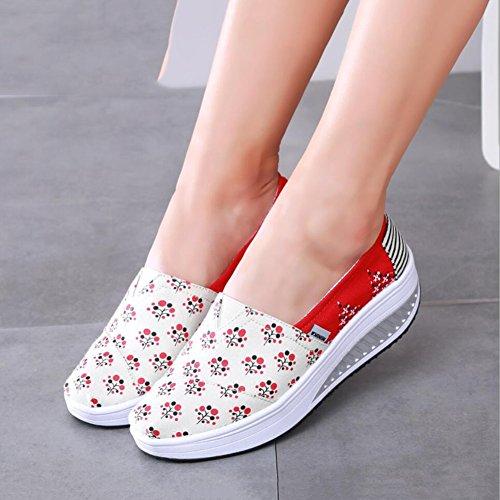 Oto Zapatos Primavera de y Slip Ons o mujer Lienzo Mocasines Conducci xIgqZI
