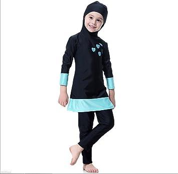03b5fdf609 FXFAN Muslim Girl Traditional Fashion Swimsuit Swimwear Three-piece, Split  Swimsuit With HatZHANGM (
