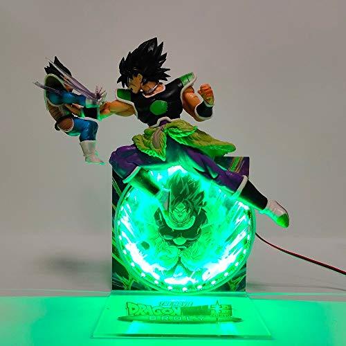 icosplayzone Gaming Dragon Ball Z Broly vs Vegeta Action Figure Lamp ...