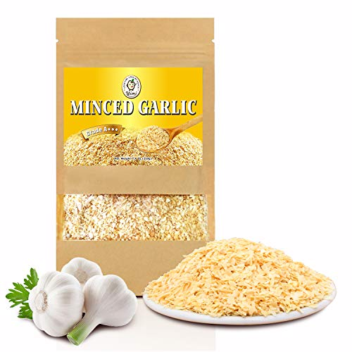 Yimi Premium Dried Minced Garlic, Natural Dry, Resealable Bag, 7.4 -
