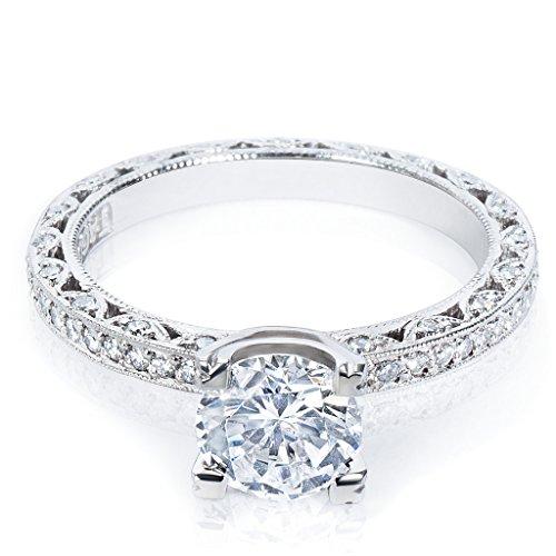 Tacori Engagement Ring Setting in Platinum HT 2257 D A (Diamonds 1/2 CTW) (Tacori Platinum Engagement Rings compare prices)