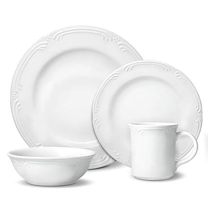 226cda4a971d Amazon.com | Pfaltzgraff Filigree 48 Piece Dinnerware Set, Service ...