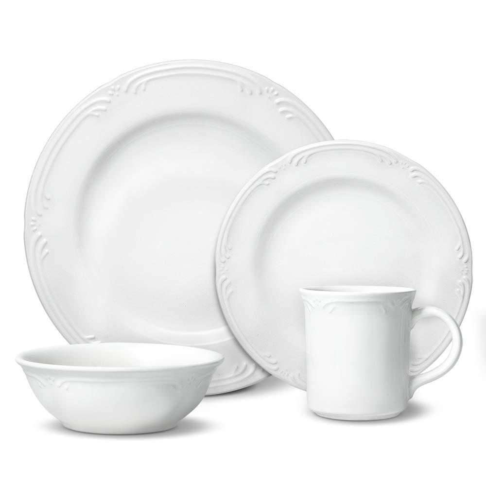 Pfaltzgraff Filigree 48 Piece Dinnerware Set, Service for 12
