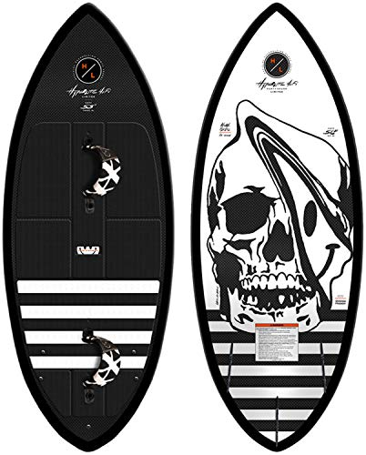Hyperlite 2019 LTD Party Shark Hi-Fi Removable Strapped Wakesurf Board, Sizes 53, 56
