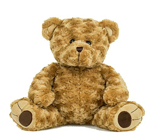 BEARegards Personalized Recordable Message 15 Inch Brown Curley Talking Teddy Bear w/ 30 Seconds of Recording Time.
